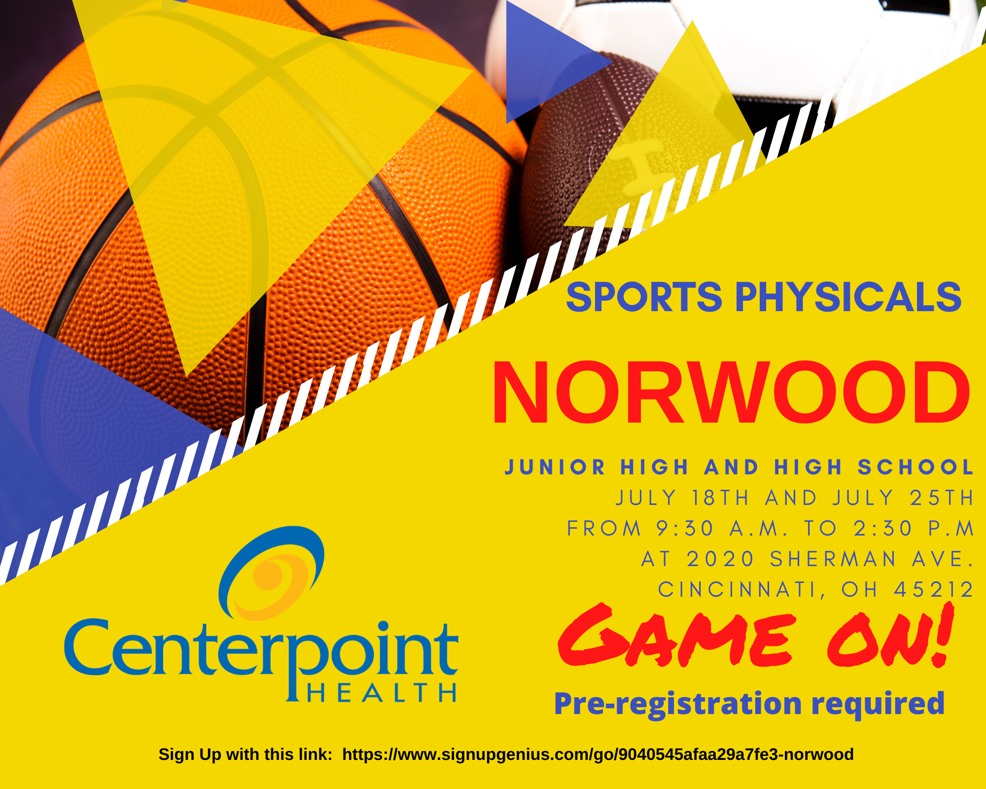 Norwood Sports Physicals held on July 18 and 25 at Norwood High School.